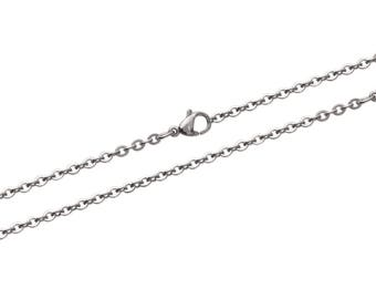 Steel thick 2.4 mm length 45 or 50 or 55 cm trace chain