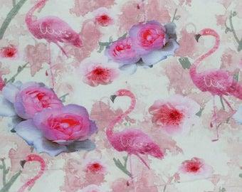 Flamingo Jersey Knit Fabric 92/8 Cotton Elastane