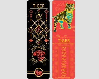 Tiger  Chinese Zodiac Sign (Sheng Xiao)   Bookmark