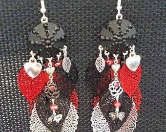 """Earrings """"Hot night"""" by 10cm"""