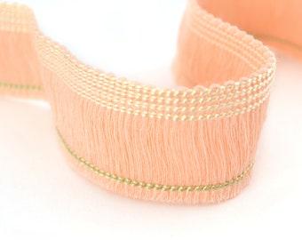 Powder Pink fringe nude Cotton sewing 2.5 cm 50 cm