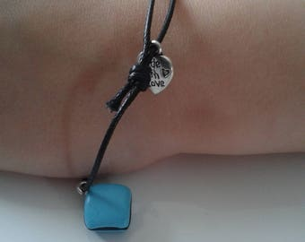 Bracelet sweet delicious turquoise and black licorice - and so forth and so