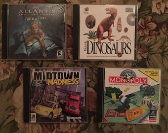 Midtown Madness Chicago Ed, Monopoly, Disney's Atlantic Trial by Fire - 4 x PC