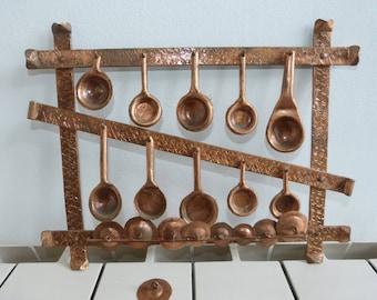 Copper miniatures, pots and lids