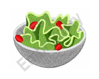 Salad Bowl - Machine Embroidery Design