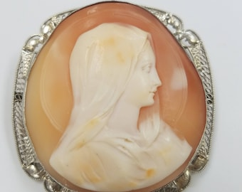 14kwg Mother Mary Cameo LARGE