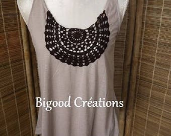 Customized crochet - bow back tank top