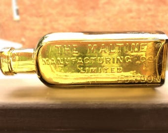 The Maltine Mfg Co Ltd LONDON Victorian Era Bottle