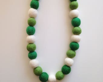 Green Felt Ball Garland