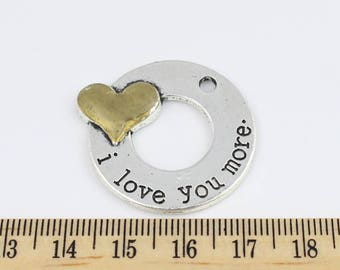 2 I love you more charms