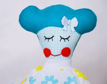 Handmade doll Soft doll Fabric doll for girl child baby