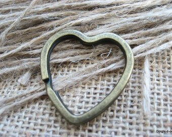 for creation of Keychain heart shaped ring clasp