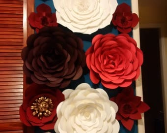 handmade, paper, flowers, clothespins, templates, cardstock, papercraft, paperflowerbackdrop,paperroses,handcut