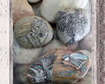 For office decor River stones