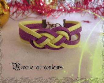 """Bracelet suede sailor knot """"Yodi"""""""