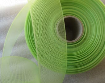 tulle in 4.5 cm bright green for wedding or baptism