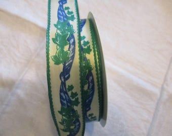 Ivy leaf 22 m Ribbon blue, green leaves