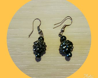 earring with a Black Pearl