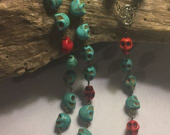 Day of the Dead Skull Rosary
