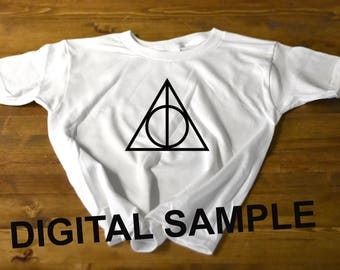 deathly hallows symbol inspired  t-shirt