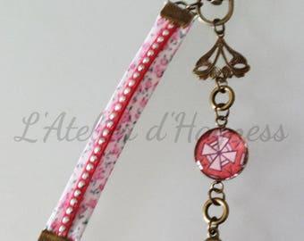 "Bag charm or Keychain bronze ""Tenderness Rose"""