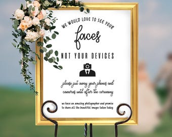 Unplugged Wedding, Unplugged Wedding Sign, Unplugged Ceremony Sign, Unplugged Sign, Wedding Unplugged, Faces not Devices, Wedding, #HQT018_6