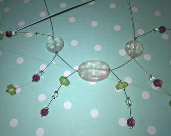 Pearl Necklace with pastel colors