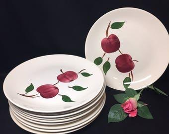 Dinner Plates Vintage Blue Ridge Arlington Apple - sold as sets of 2