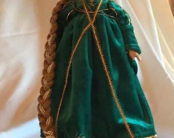 """Danbury Mint """"Rapunzel"""" Porcelain Doll"""