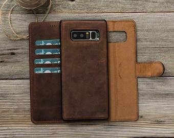 Galaxy Note 8 Case, Note 8 Case, Samsung Note 8 Case, Leather Note 8 Case, Note 8 Leather Case, Note 8 Wallet, Note 8 Wallet Case - BROWN