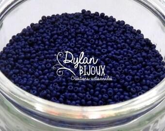 10 gr 2.3 mm 10/0 Preciosa Ornela Navy Blue opaque seed beads