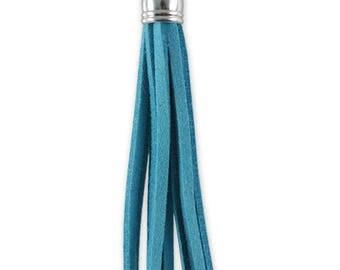 """Pendant """"tassel"""" Turquoise suede 60 mm"""