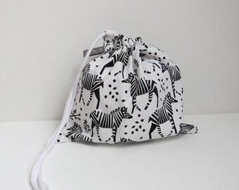 Zebra print tote bag