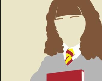 Minimalist Portrait - Hermione Granger