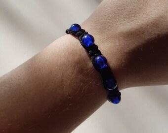 Navy Blue Shambala bracelet