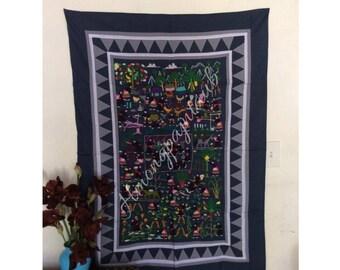 Handmade embroidery Hmong life story cloth