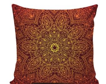Pillow Cover - Mandala Choice (select color)