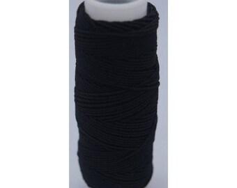 1 spool of black elastic thread (lastex)