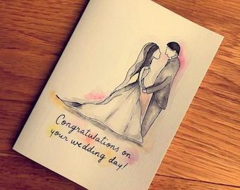 Personalised Bride and Groom Wedding Card