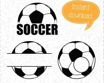 Soccer SVGs, Soccer SVG, Soccer Monograms, Soccer Ball SVG, Soccer Balls, Soccer SVGs, SVGs, Cricut Cut File, Silhouette File