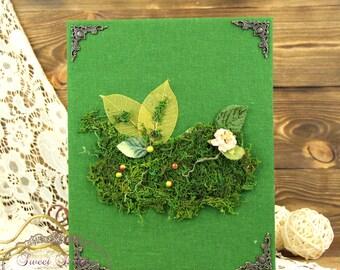 Folder for marriage,  wedding certificate coverRustic moss wedding folder, rustic wedding folder, Forest folder, Woodland wedding folder