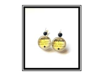 "Original earrings & single ""perfect (full) pretty defects"" Golden Star black gold"