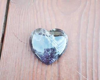 Amethyst heart shaped stones