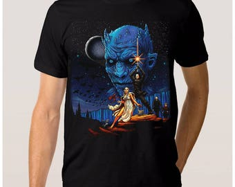 Game of Thrones Star Wars Combo T-shirt Daenerys Targaryen Jon Snow Men's Women's All Sizes
