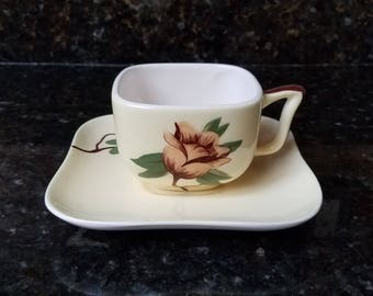 Weil Ware Yellow Rose 1950's Cup & Saucer