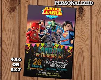 Justice League Invitation,Justice League Birthday Invitation,Justice League,Justice League Birthday Party,Justice League Birthday Invite SL