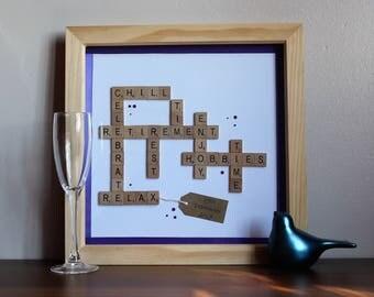 Personalised Retirement Scrabble Frame