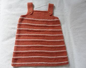 (only) 18 months pink orange pinafore dress