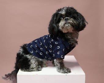 Dog Shirt | The Lucky Shirt | Dog Clothes | Dog Apparel | Dog Shirts for Dogs | Pet Clothing | Dog Button Up | Horseshoe Print