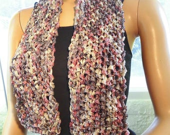 -Party silver lurex - pink - gray scarves